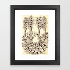 Forest of Fingers Framed Art Print