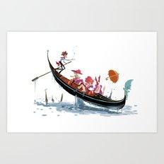Pin up Venise Art Print