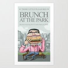 Brunch at the park Art Print