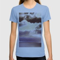 Sky Ring Womens Fitted Tee Athletic Blue SMALL