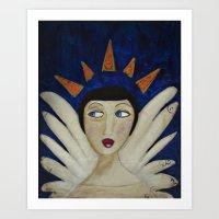 Distracted Angel  Art Print