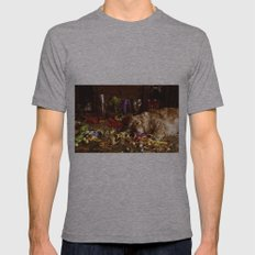 After The Party Mens Fitted Tee Athletic Grey SMALL