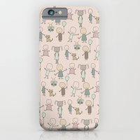 Children Playing-on Peach iPhone 6 Slim Case