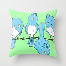 dem birds Throw Pillow