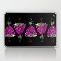 Audrey OZ Stardust Pink Glitter Dress Laptop & iPad Skin