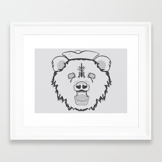 Pirate Bear Framed Art Print