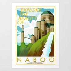 Explore the Beauty of Naboo Art Print