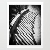 Stairway Shadows Art Print
