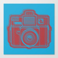 I Still Shoot Film Holga Logo - Blue & Red Canvas Print