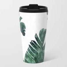 Banana Leaf Watercolor Pattern #society6 Travel Mug