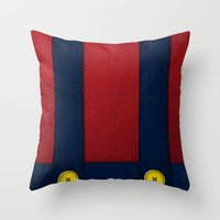 Video Game Poster: Plumber Throw Pillow