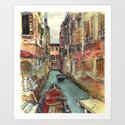 Autumn in Venice Art Print