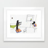 In The Virtual Reality S… Framed Art Print