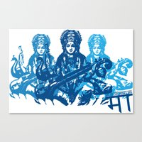 Saraswati Triple Canvas Print