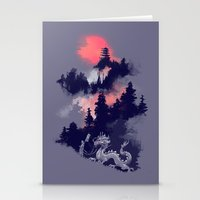 dragon Stationery Cards featuring Samurai's life by Picomodi