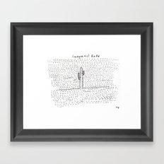 magnetic field Framed Art Print