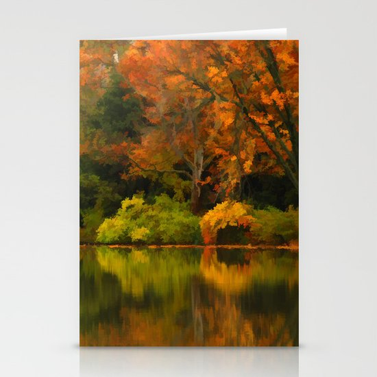 Across the Lake Stationery Card