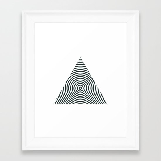 #238 Pyramid – Geometry Daily Framed Art Print
