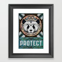 Protect Framed Art Print