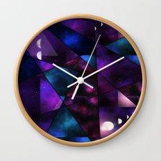 Cosmic Glass Wall Clock