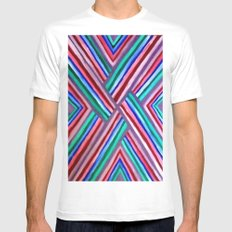 XO White Mens Fitted Tee SMALL