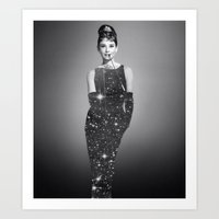 audrey hepburn Art Prints featuring Audrey Hepburn by Laure.B