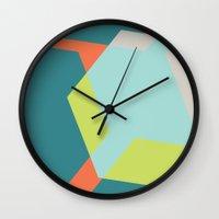 Hex - Teal Wall Clock