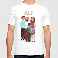 Alf Mens Fitted Tee White SMALL