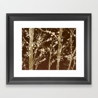 Make it Through (woodland brown edition) Framed Art Print