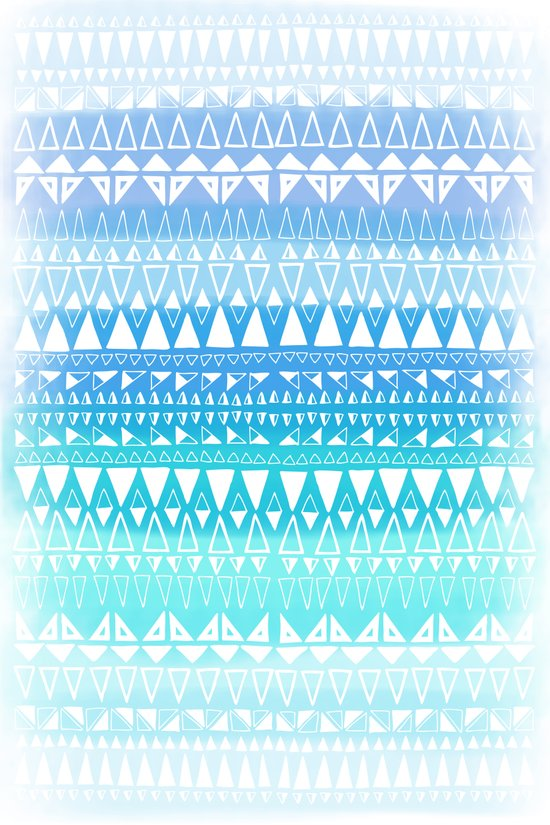 Triangle Gradient Aqua Mix Art Print