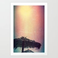 Burnt Beach Art Print