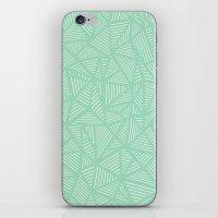 Geo Lines Mint iPhone & iPod Skin