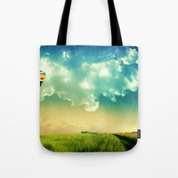 The Colorful Balloon In The Sky - Painting Style Tote Bag