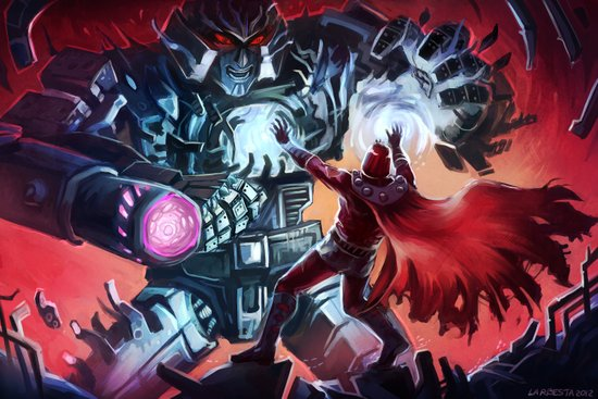 Magneto vs Megatron Canvas Print