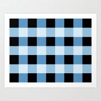 Blue Squares Art Print