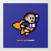 8-Bit: Super Man(ning) Canvas Print