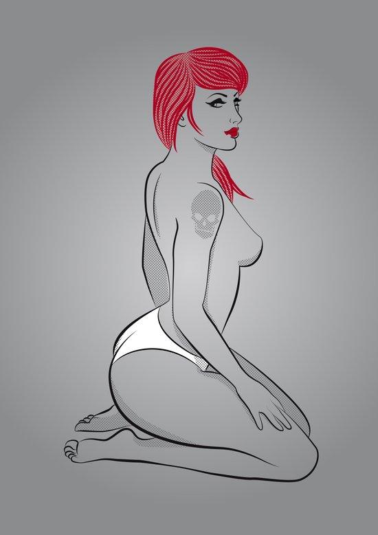 Red Girl V.6 Art Print