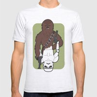 Chewbacca And Stormtroop… Mens Fitted Tee Ash Grey SMALL