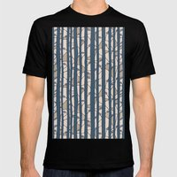 Into The Woods blue cream Mens Fitted Tee Black SMALL
