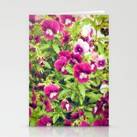 Pretty violets Stationery Cards