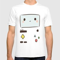 BMO Mens Fitted Tee White SMALL