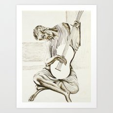 The New Old Guitarist Art Print