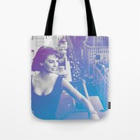 Natalie Wood Cityscape Tote Bag