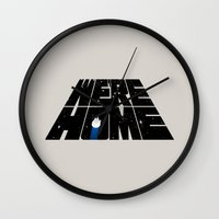 We're Home Wall Clock