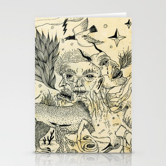 Grotesque Flora and Fauna Stationery Card