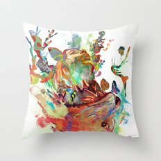 Anemones Blooming Throw Pillow