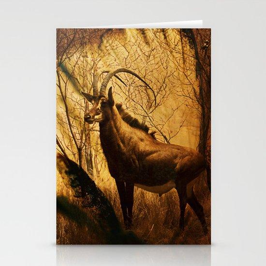 Diorama :: Antelope Stationery Card