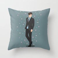 Going Downtown #2 Throw Pillow