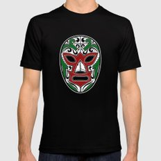 Mexican Wrestling Mask - Color Edition SMALL Mens Fitted Tee Black