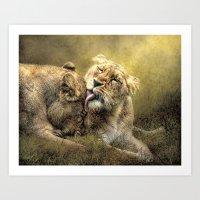 Sisterly Affection Art Print